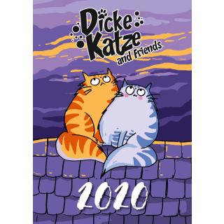 Dicke Katze Kalender 2020