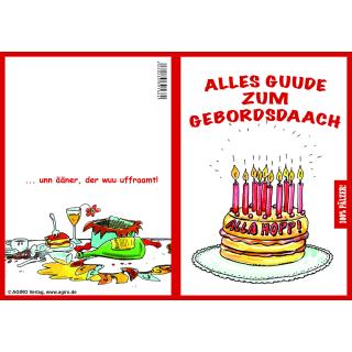 100% Pälzer! Gebordsdaach - 1. Pfälzer Geburtstagskarte 10erPaket